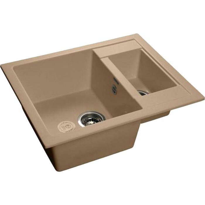 Кухонная мойка GranFest Quadro GF-Q610K топаз