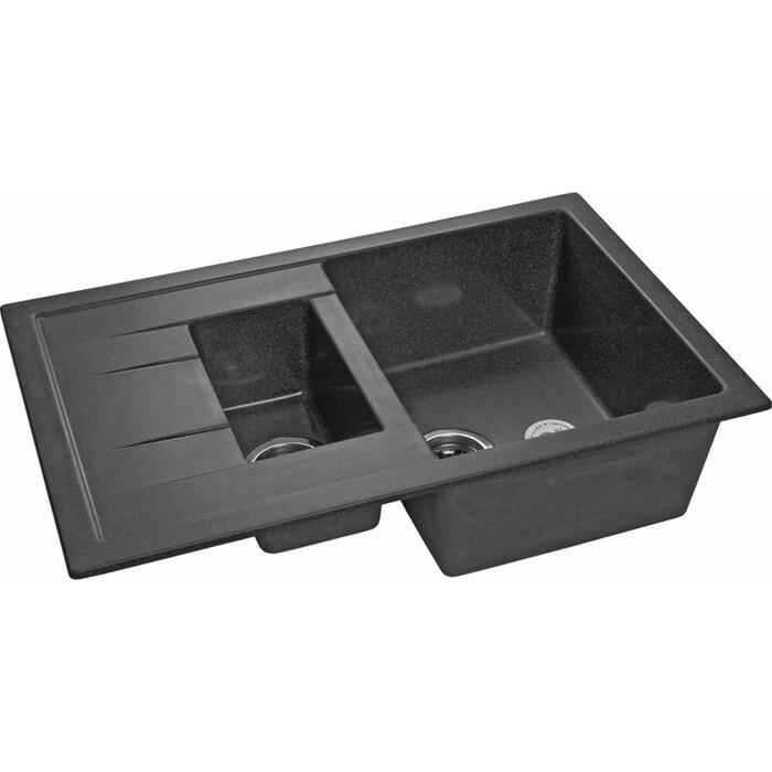 Кухонная мойка GranFest Quadro GF-Q775KL графит