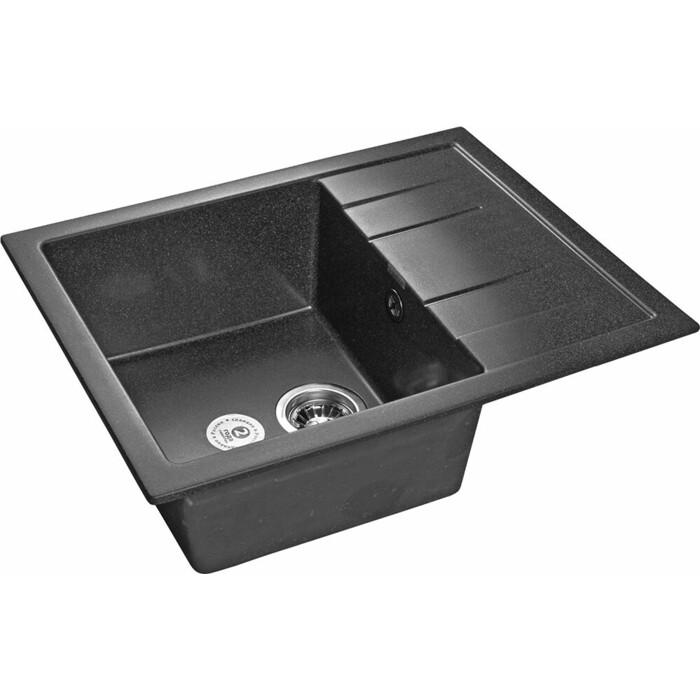Кухонная мойка GranFest Quadro GF-Q650L графит
