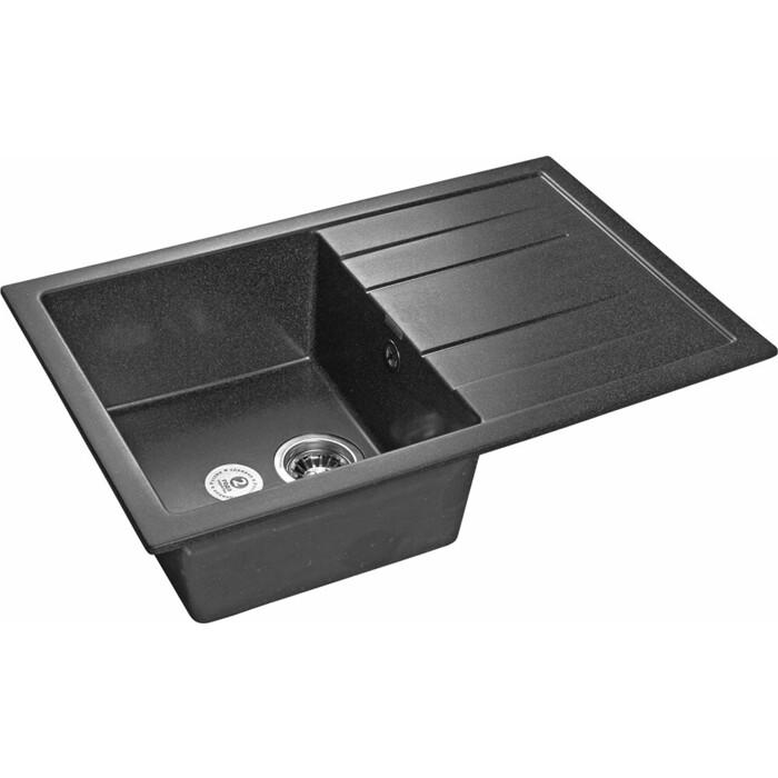 Кухонная мойка GranFest Quadro GF-Q780L графит