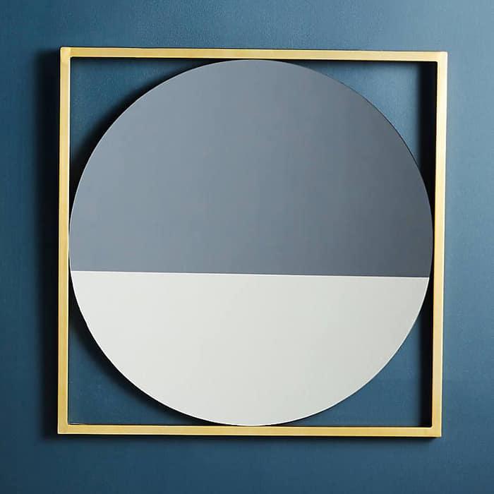 Зеркало круглое Genglass Kvadrum gold