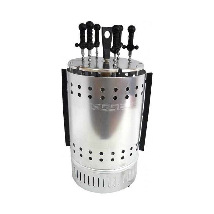 Шашлычница Пикник ЭШВ-1,25/220 цветная упаковка, 6 шампуров и 6 шампуров дополнительно