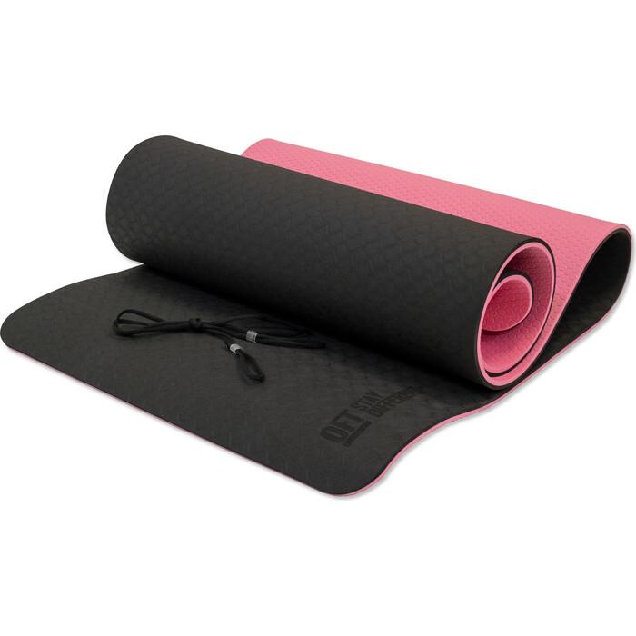 Коврик для йоги Original FitTools 10 мм двухслойный TPE розовый
