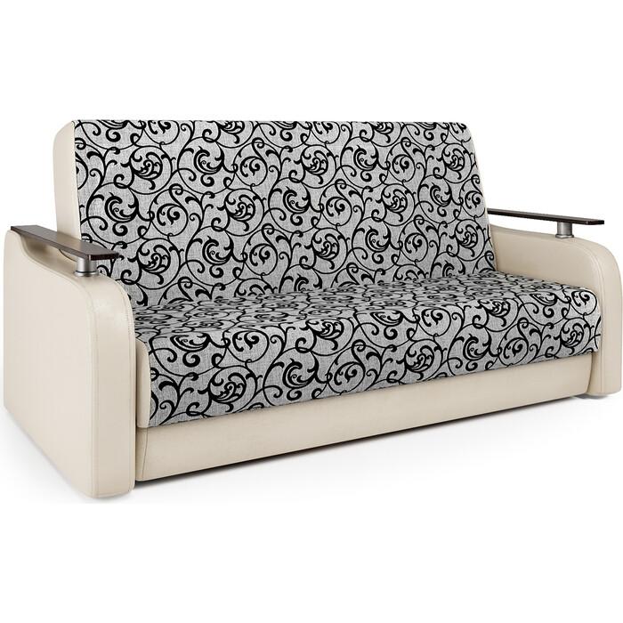 Диван-книжка Шарм-Дизайн Грант Д 120 экокожа беж и шенилл узоры диван книжка шарм дизайн грант д 120 шенилл серый