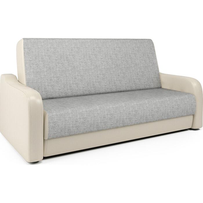 Диван-книжка Шарм-Дизайн Грант М 120 экокожа беж и серый шенилл диван аккордеон шарм 120 экокожа беж и серый шенилл