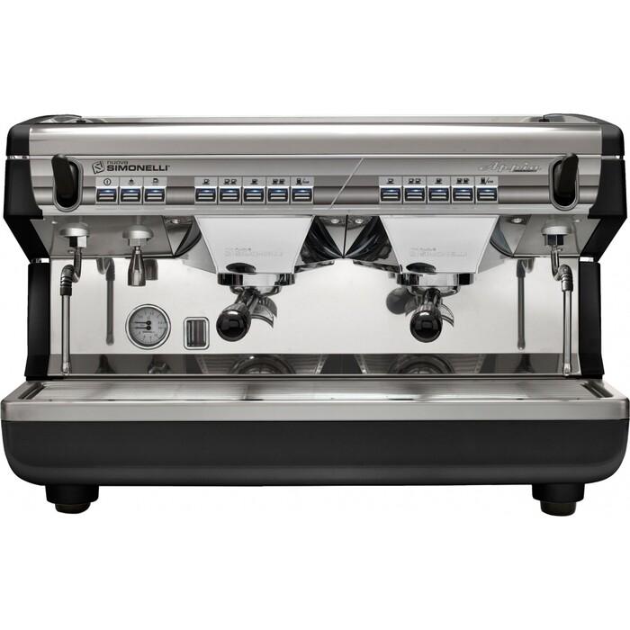 Кофемашина профессиональная Nuova Simonelli Appia II 2 Gr V Black автомат, высокие группы, экономайзер