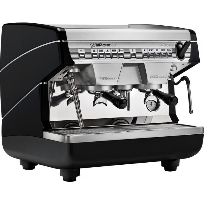 Кофемашина профессиональная Nuova Simonelli Appia II Compact 2 Gr V Black автомат, высокие группы