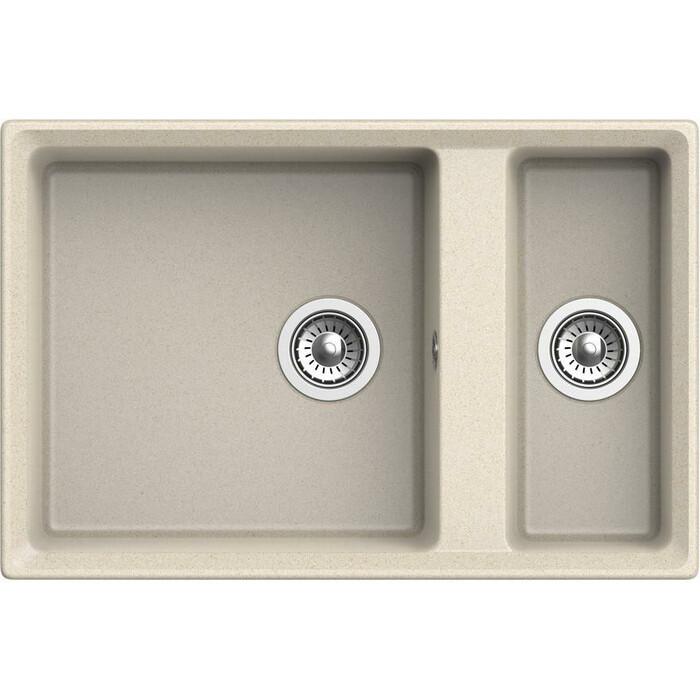 Кухонная мойка GranFest Level GF-LV-760K бежевая