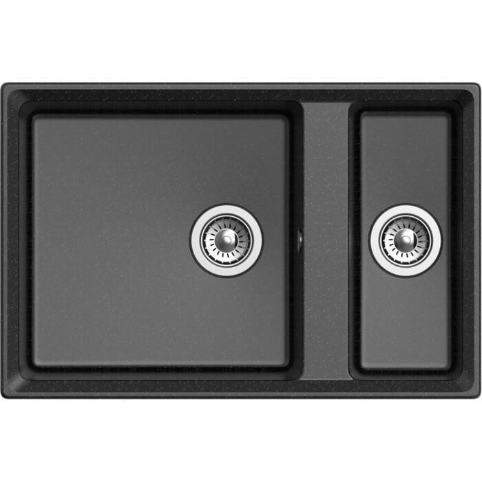 Кухонная мойка GranFest Level GF-LV-760K черная