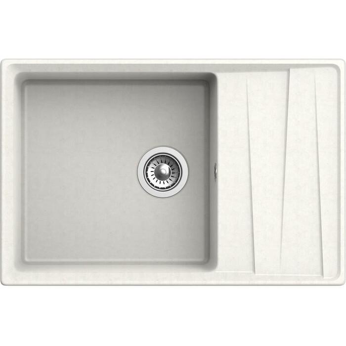 Кухонная мойка GranFest Level GF-LV-760L белая