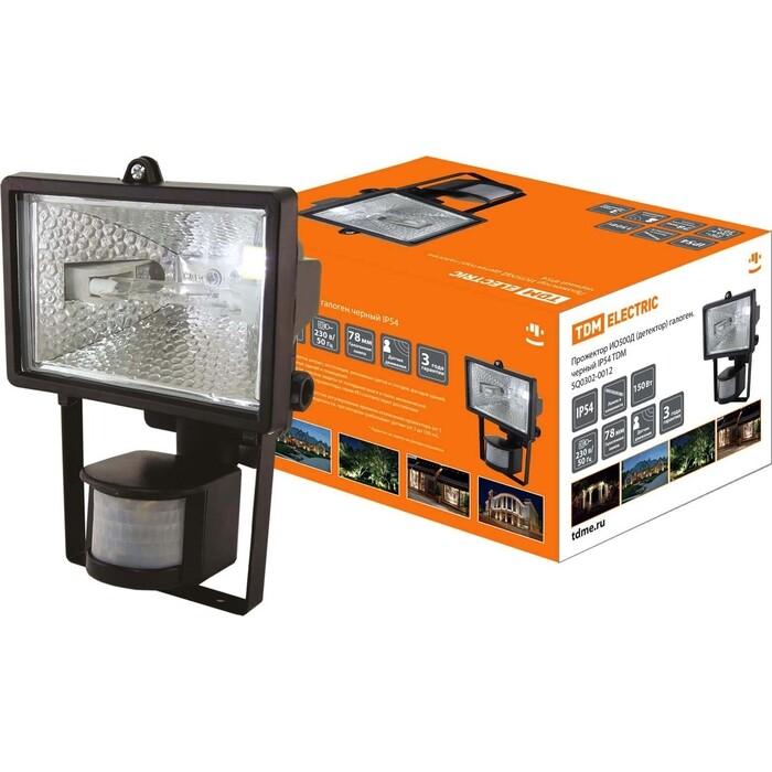 Прожектор TDM ELECTRIC ИО 500Д (детектор) галоген.черный IP54