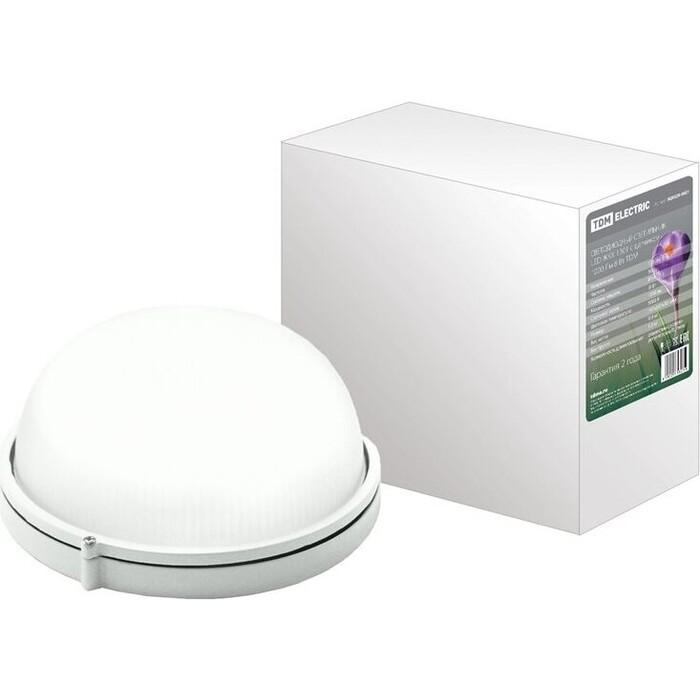 Светильник TDM ELECTRIC Светодиодный LED ЖКХ 1301 с датчиком 1000 Лм 8 Вт IP54 светильник светодиодный аргос трейд дбп жкх эконом 7983793