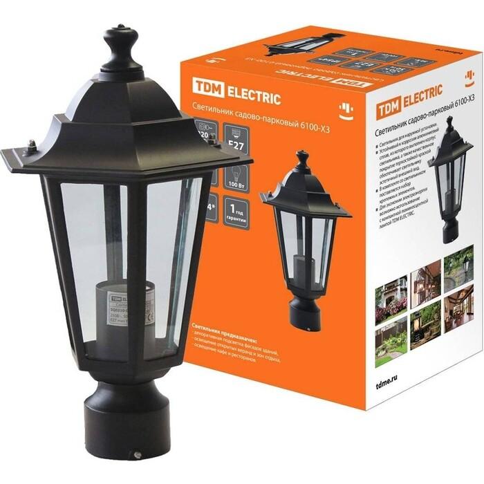 Светильник TDM ELECTRIC 6100-03 садово-парковый шестигранник, 100 Вт, на опору, черный 0 pr на 100