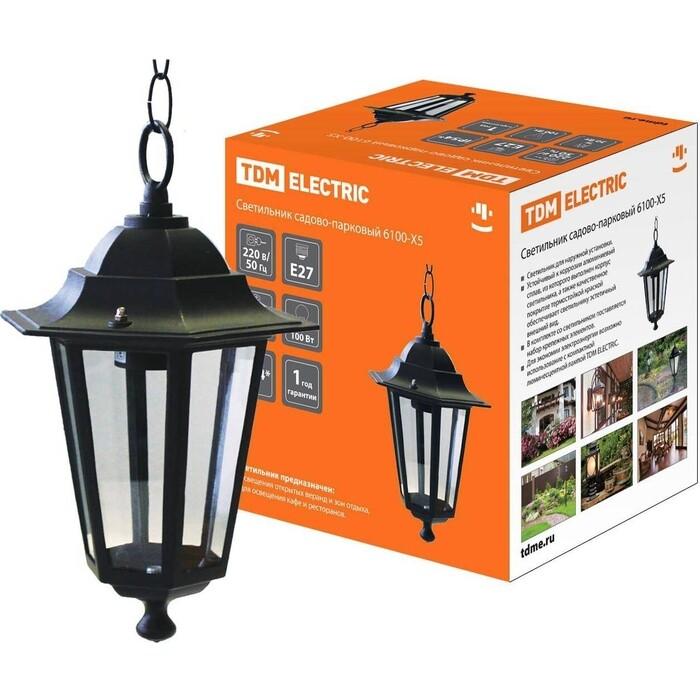 Фото - Светильник TDM ELECTRIC 6100-05 садово-парковый шестигранник, 100 Вт, подвес, черный de markt садово парковый светильник глазго 2 815041101