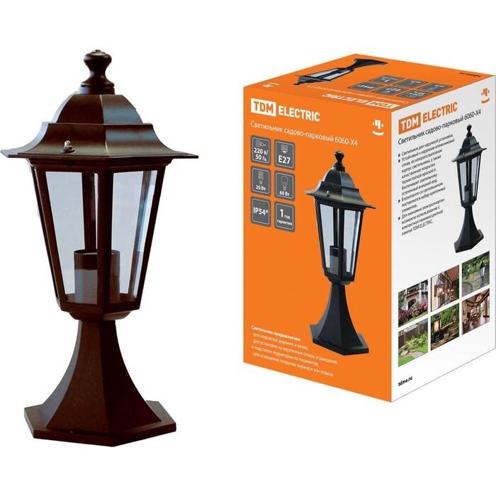 Светильник TDM ELECTRIC 6060-14 садово-парковый шестигранник, 60 Вт, стойка, бронза