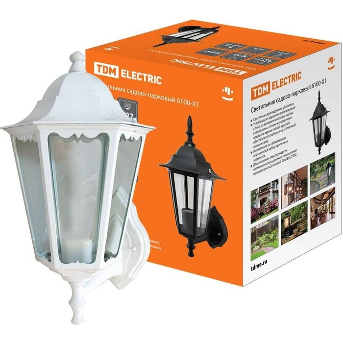 Фото - Светильник TDM ELECTRIC 6100-21 садово-парковый шестигранник, 100 Вт, вверх, белый de markt садово парковый светильник глазго 2 815041101