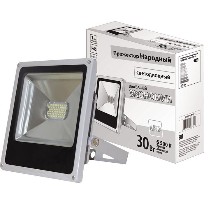 Прожектор TDM ELECTRIC светодиодный СДО 30-2-Н 30 Вт, 6500 К, серый