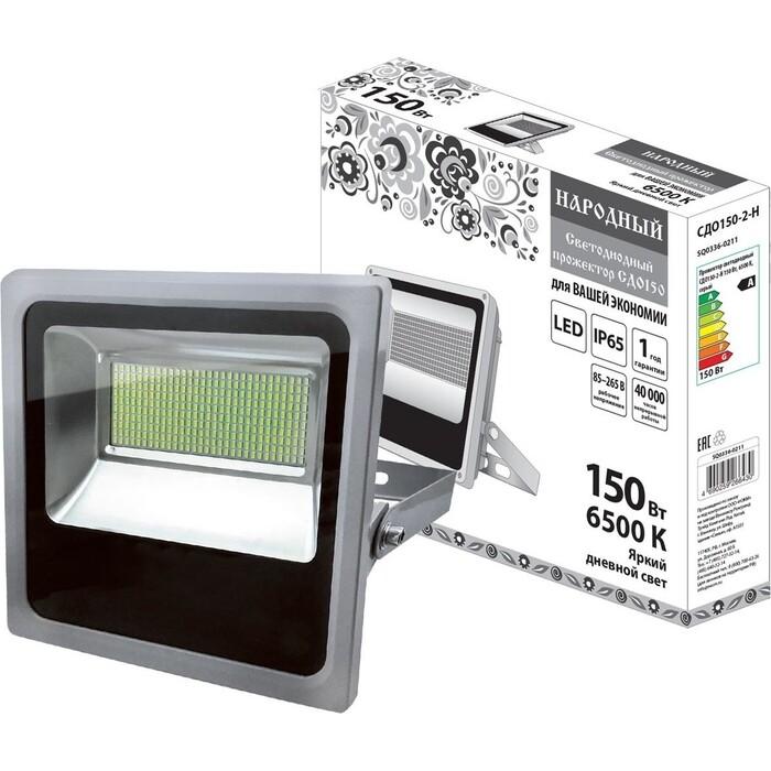 Прожектор TDM ELECTRIC светодиодный СДО 150-2-Н 150 Вт, 6500 К, серый