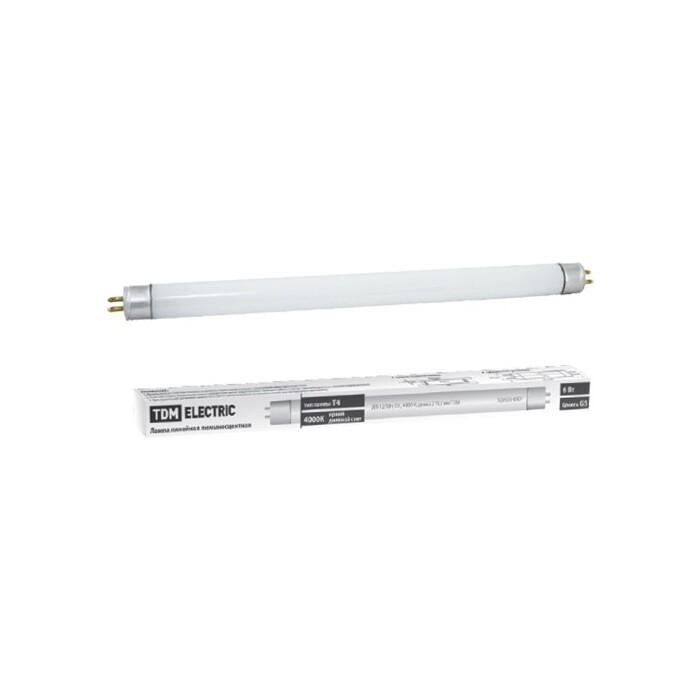 Лампа TDM ELECTRIC люминесцентная линейная двухцокольная ЛЛ-16/28 Вт,T5/G5, 4000 К, длина 1163,2 Мм