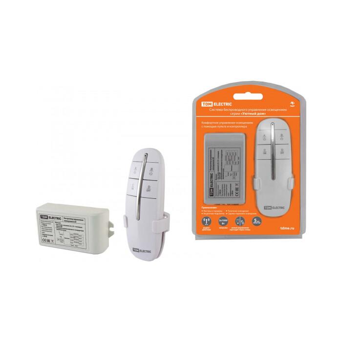 Управление освещением TDM ELECTRIC Комплект для беспроводного управления освещением ПУ 2-МК-4 (4 канала)