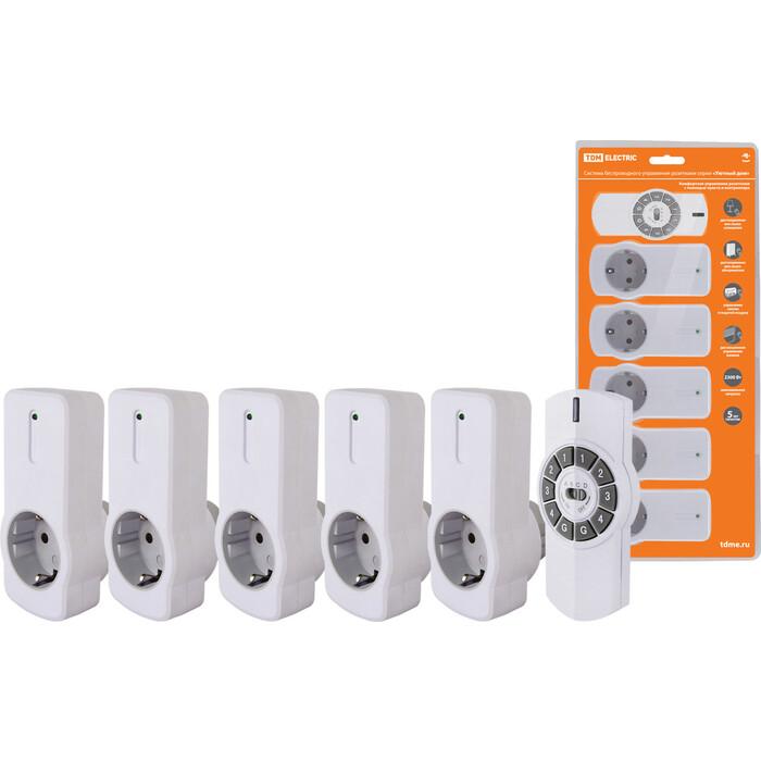 Управление розетками TDM ELECTRIC Комплект для беспроводного управления розетками ПУ4-Р 1.5 (5 приемников)