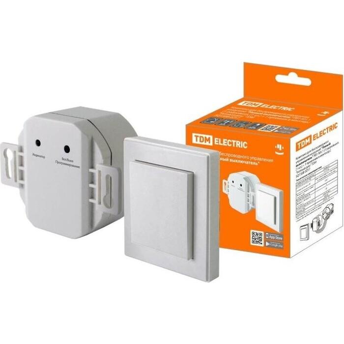 Комплект TDM ELECTRIC для беспровод управления нагрузкой Умный выключатель РВ 1-М 1.1 (1 радиовыкл. кл.) + 1 приемник в монт.кор.) Уютный дом