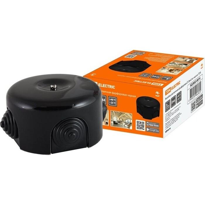 Коробка распаячная TDM ELECTRIC фарфоровая D7,8x4,5 см черная