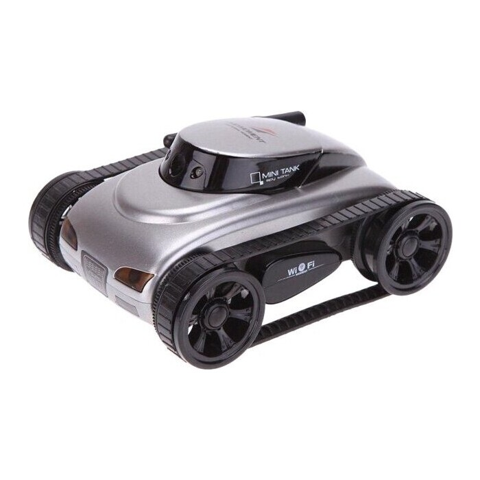 Робот мини танк-шпион Happy Cow I-Spy с камерой WiFi - 777-270 Gray робот мини танк шпион happy cow i spy с камерой wifi 777 270 gray