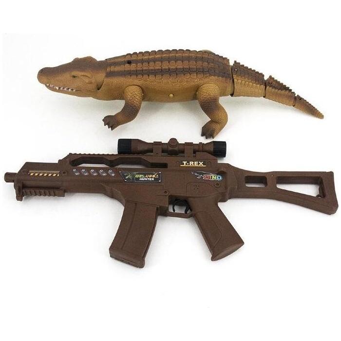 Радиоуправляемая игрушка Lishi Toys Крокодил со световым пистолетом 9985 - 9985B