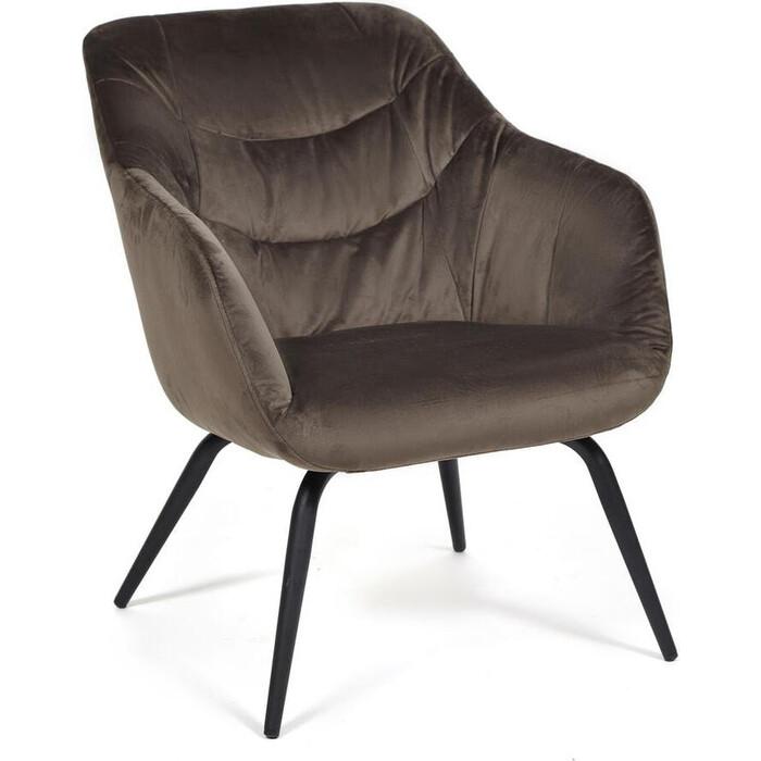 Кресло TetChair Dreifus (mod. DM4284) металл, ткань, коричневый (37-brown)