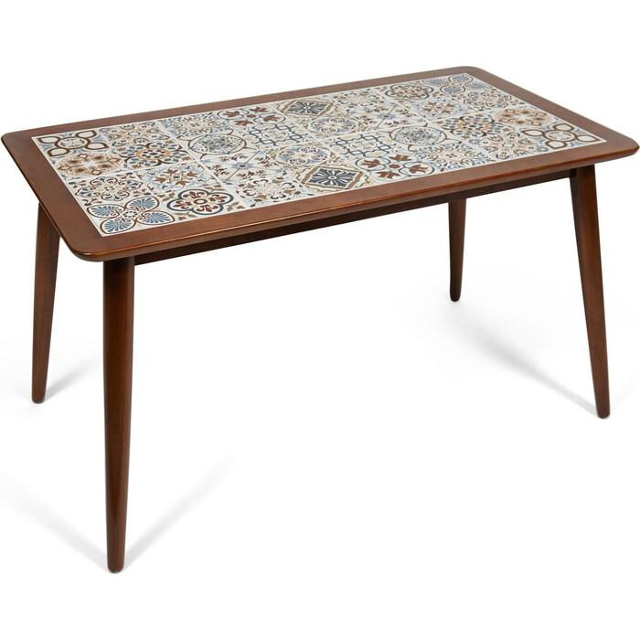 Фото - Стол с плиткой TetChair CT3052 Tanger дерево гевея/плитка, темный дуб, рисунок - марокко плитка виниловая primero 31кл дуб арктический 20237 1316х191х4 5мм