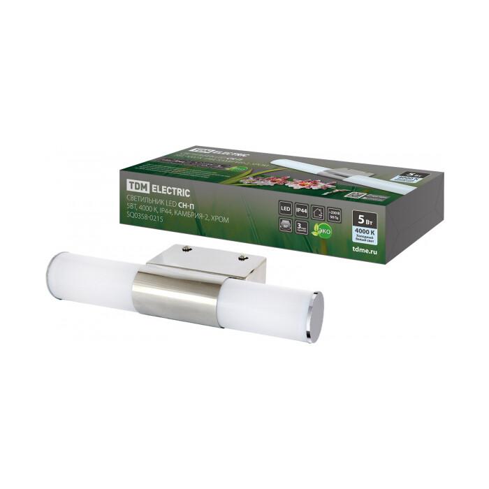 Светильник TDM ELECTRIC led CH - П 5 Вт, 4000 К, IP44, Камбрия - 2, хром светильник встр led de fran cupboard 4 вт 4000 к хром