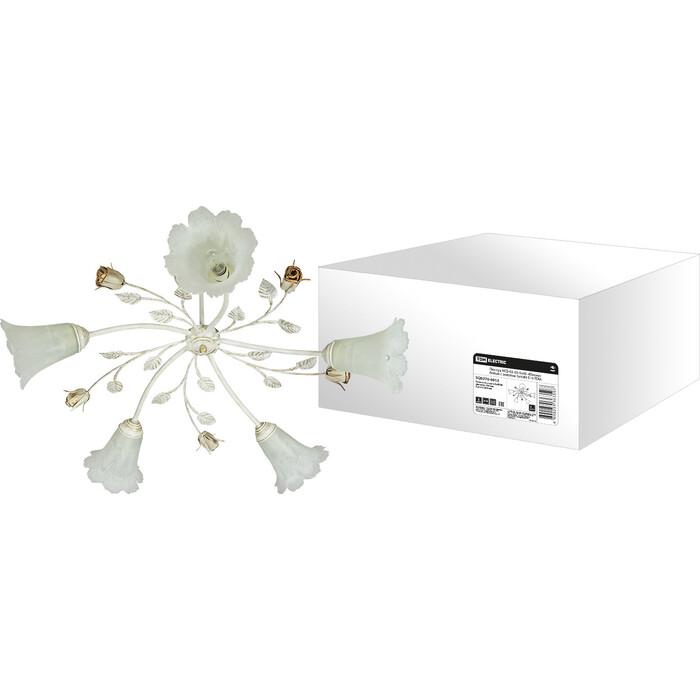Люстра TDM ELECTRIC НСБ - 02 5x40 Юнона белый с золотом Вт E14