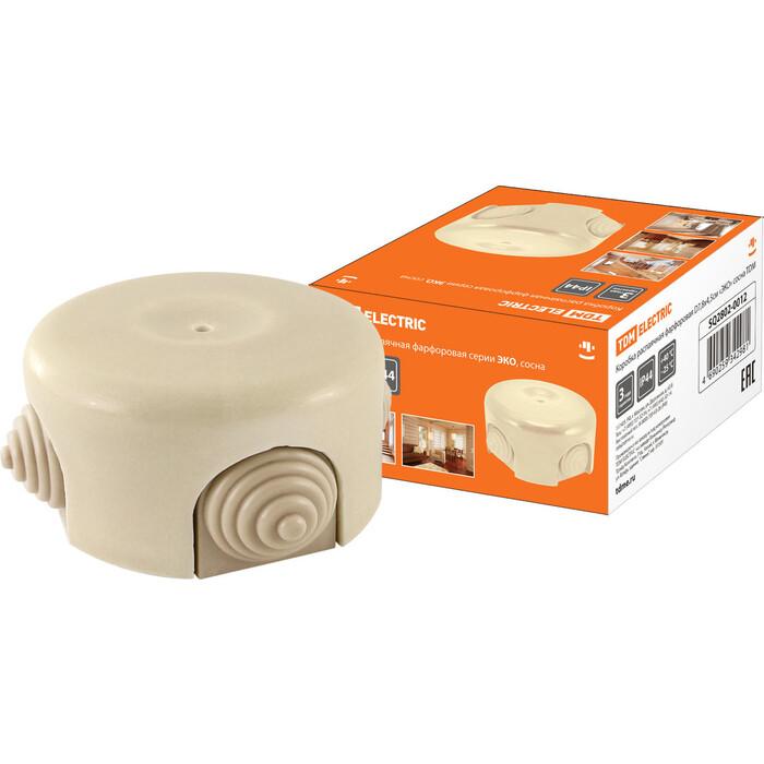 Коробка распаячная TDM ELECTRIC фарфоровая D7,8x4,5 см ЭКО сосна