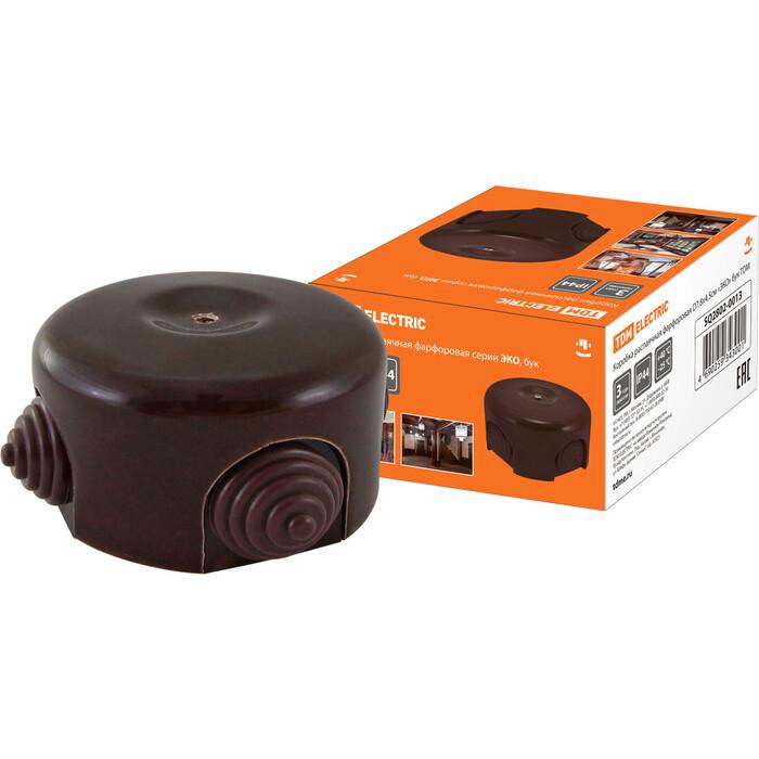 Коробка распаячная TDM ELECTRIC фарфоровая D7,8x4,5 см ЭКО бук