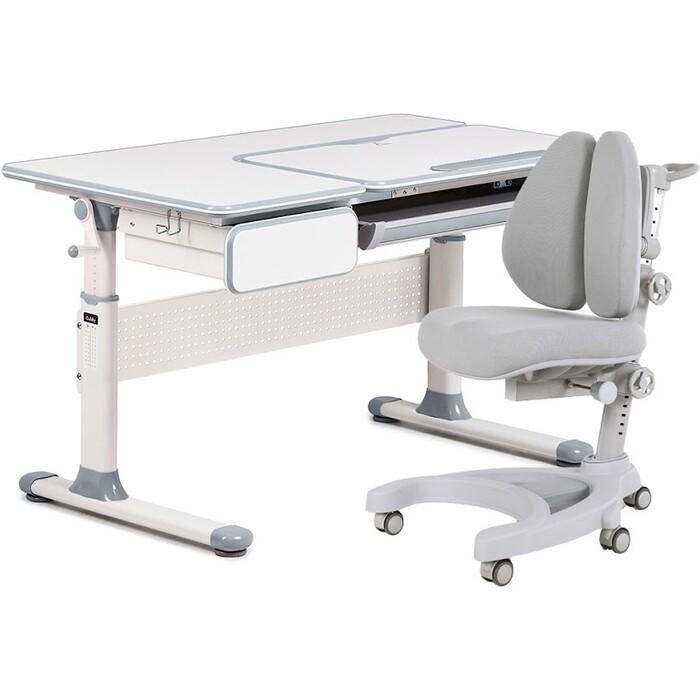 Комплект FunDesk Парта Toru grey + кресло Aranda