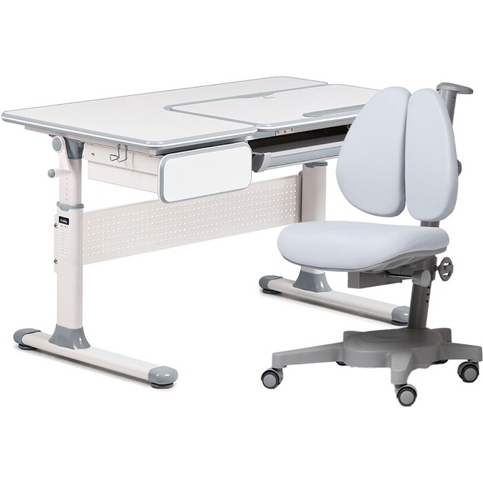 Комплект FunDesk Парта Toru grey + кресло Brassica