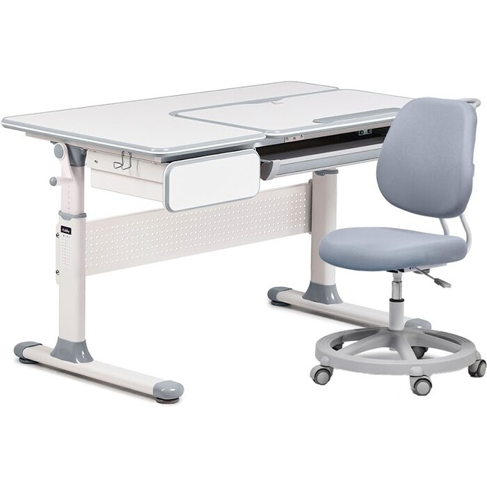 Комплект FunDesk Парта Toru grey + кресло Pratico