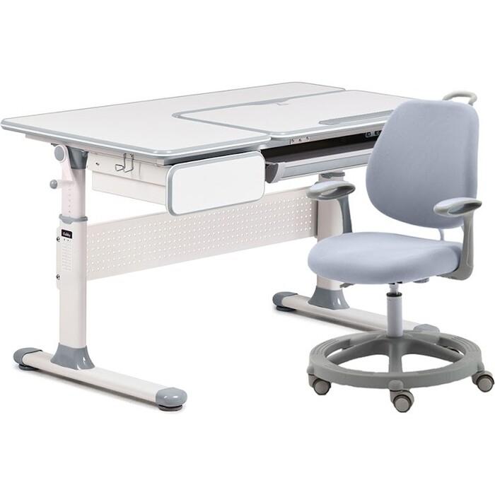 Комплект FunDesk Парта Toru grey + кресло Vetta