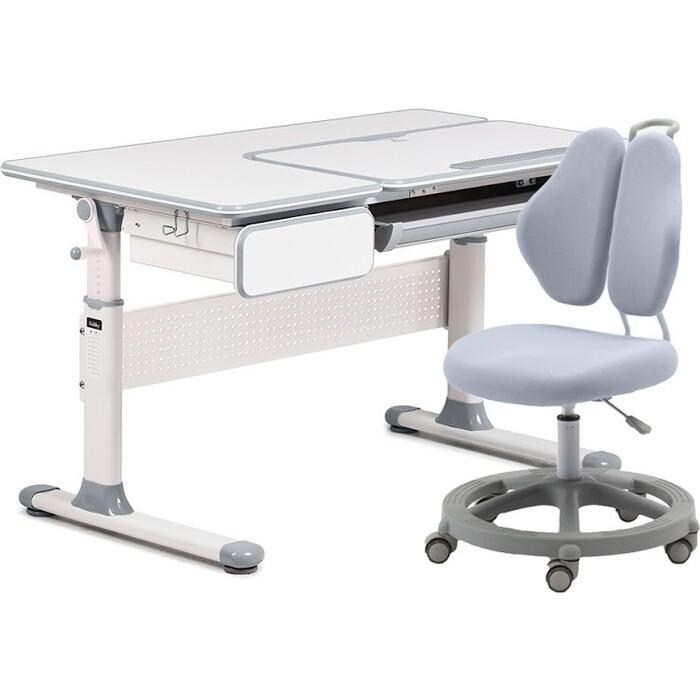 Комплект FunDesk Парта Toru grey + кресло Pratico II grey