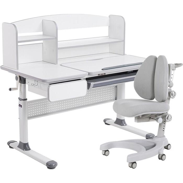 Комплект FunDesk Парта Rimu grey + кресло Aranda