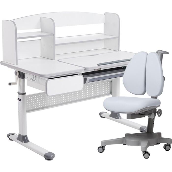 Комплект FunDesk Парта Rimu grey + кресло Brassica grey комплект fundesk парта rimu grey кресло pratico grey