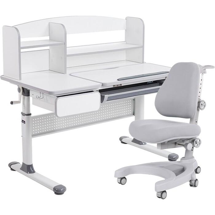 Комплект FunDesk Парта Rimu grey + кресло Magnolia grey комплект fundesk парта rimu grey кресло pratico grey