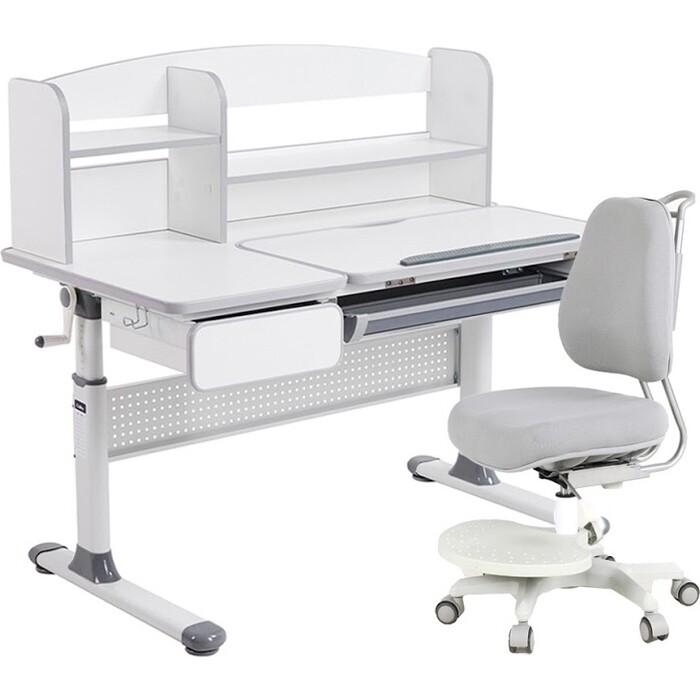 Комплект FunDesk Парта Rimu grey + кресло Paeonia