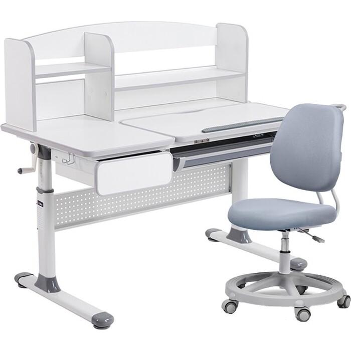 Комплект FunDesk Парта Rimu grey + кресло Pratico