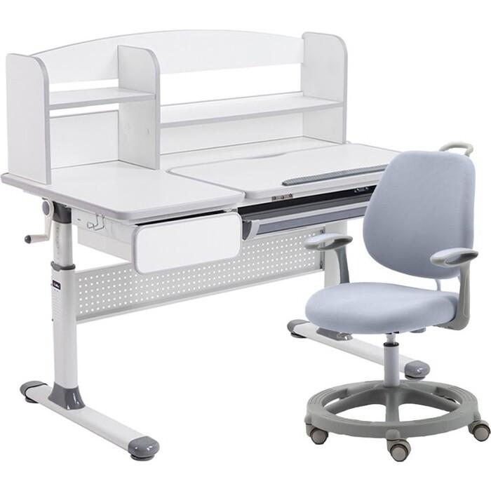 Комплект FunDesk Парта Rimu grey + кресло Vetta grey комплект fundesk парта rimu grey кресло pratico grey