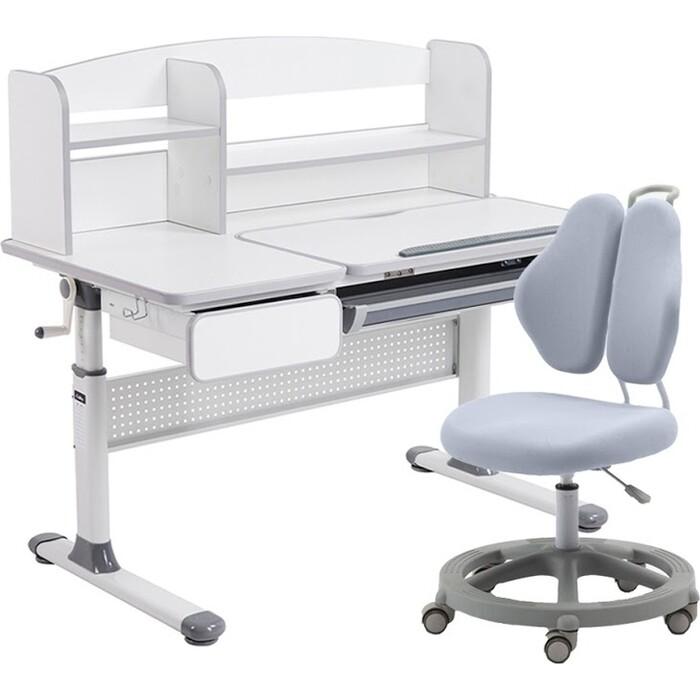 Комплект FunDesk Парта Rimu grey + кресло Pratico II grey комплект fundesk парта rimu grey кресло pratico grey