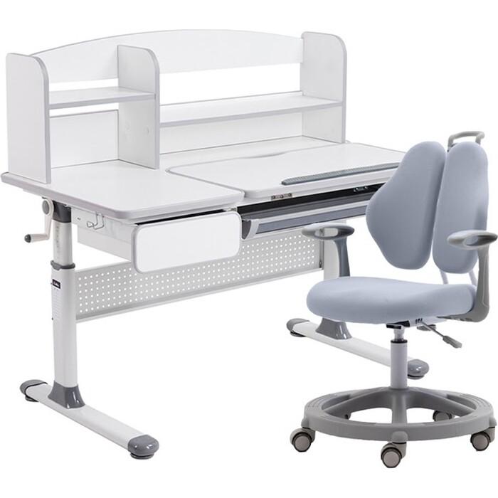 Комплект FunDesk Парта Rimu grey + кресло Vetta II grey комплект fundesk парта rimu grey кресло pratico grey