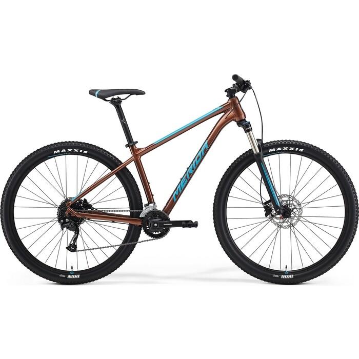 Фото - Велосипед Merida Big.Nine (2021) 100-3x P-M(17) Bronze/Blue (6110881300) велосипед merida ride cf team 2014