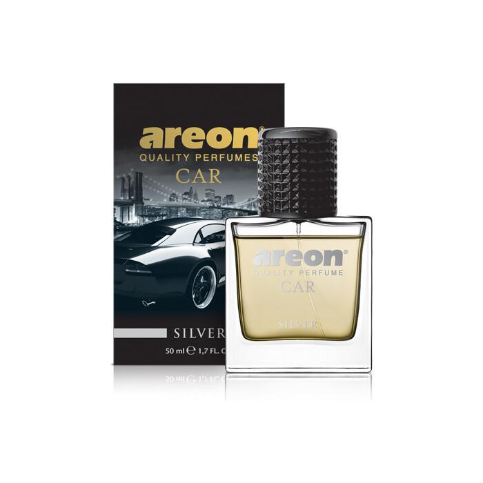 Ароматизатор автомобильный Areon PERFUME GLASS 50 ML (Silver / Серебро)